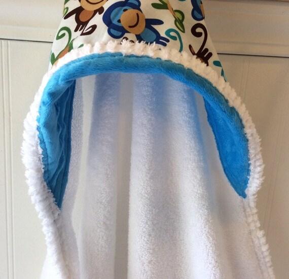 Kids-Towel-Personalized-Bath-Hooded-Towels-Boy-Boys-Monkey