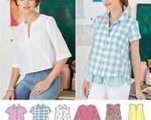 Simplicity 8090 Shirt Pattern Tunic Pattern Top Pattern Uncut Size 6-14