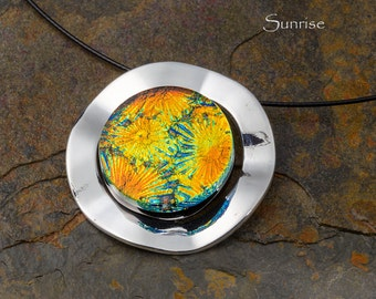 Fused Glass Pendant by BluDragonfly SRA - Sunrise