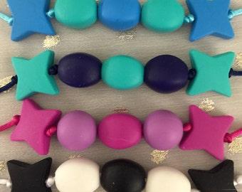 Teething Necklaces, Etsy Baby, Silicone Teething Beads, Teething Beads, Handmade