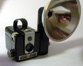 Vintage Kodak Brownie Hawkeye Flash Camera with Flashholder