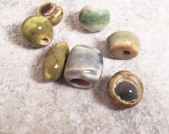 Handmade ceramic beads Porcelain clay beads for jewelry Artisan Beads Plus