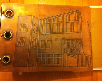 Copper Etched Bound Book