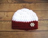 Crochet Baby Hat, Hat for Babies, Baby Girl Hat, Baby Boy Hat, Newborn Hat, Infant Hat, Infant Winter Hat, Baby Photo Prop, Christmas Hat