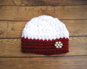 Crochet Baby Hat, Hat for Babies, Baby Girl Hat, Baby Boy Hat, Newborn Hat, Infant Hat, Infant Winter Hat, Baby Photo Prop, Christmas Hat