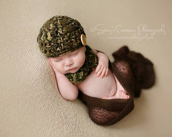 Baby Boy Hat, Boy Coming Home Hat, Camo Baby Hat, Crochet Baby Hat, Newborn Boy Hat, Boy Infant Hat, Baby Boy Beanie, Baby Beanie, Infant