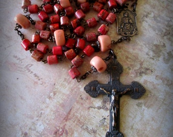 Christ the King Heirloom Aqua Terra Jasper Rosary