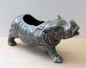 Rhino. Fun vintage ceramic planter.