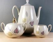 Spring Theme. 1950s German porcelain tea set by Eschenbach Bavaria.