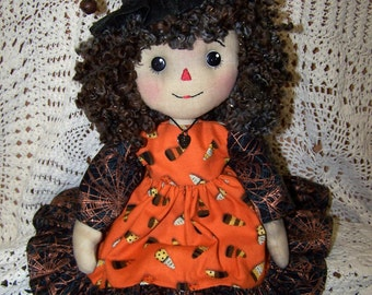PDF/Primitive Raggedy Willow Witch Doll Pattrn ET