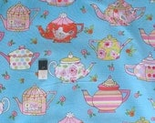 Dena Designs PWDF182 Tiddlywinks Teatime Blue Fabric By The Yard