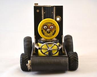 SPEED RACER Assemblage Art Car Robot Sculpture