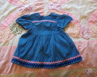 adorable blue doll dress