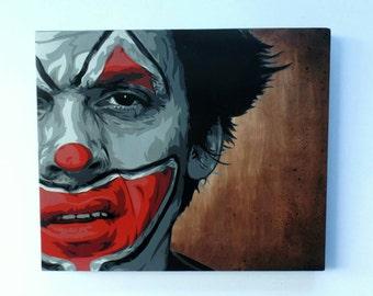 Atmosphere Sad Clown Bad DUB stencil street art portrait by Stenzskull