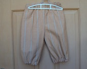 Rust stripe knickers, Child and adult knickers, Newsies  costume, pirate costume, renaissance knickers, school plays, dance programs