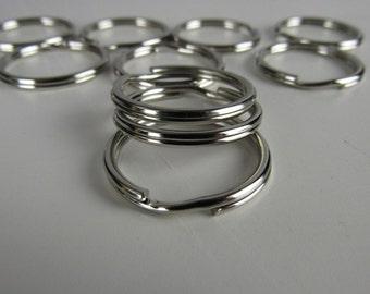 20 Key Fob Split Rings