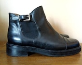 Black Leather COLE HAAN Chelsea Ankle Boots 7.5