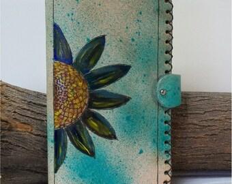 Handmade Tuscan Garden Large Moleskine Cover Leather Journal Writing 9.5X5.5
