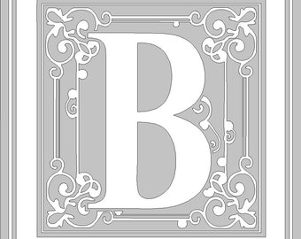 Fancy Monogram with choice of letter and color