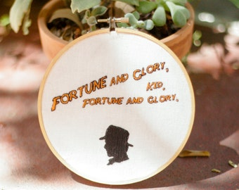 Fortune and Glory embroidery