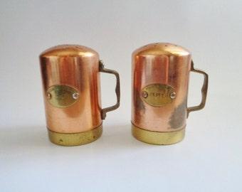 Pour La Table - Vintage Copper Salt & Pepper Shakers