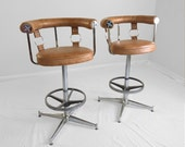RESERVED FOR VANESSA mid century modern daystrom chrome bar stools