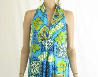 Vintage 70's Hawaiian Maxi Dress.