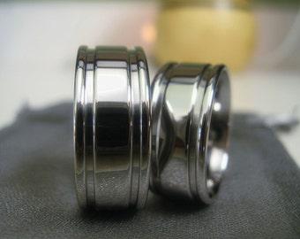 Titanium Ring SET or Wedding Bands Polished Style