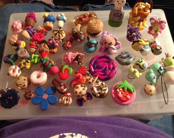 Polymer Clay Charms Figures Deco Poeces A lot!