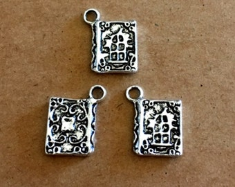 5 Old Book Charms - 2 Sided - SC262 #MM