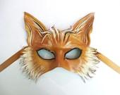 Leather Fox Mask costume fox art