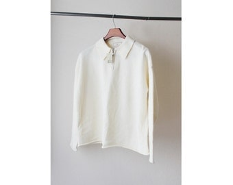 NOS 1990s Express Ivory Off White Polo Sweater