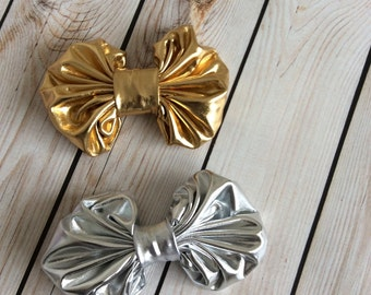 Metallic hairbow-Headbands-Baby hairbow-unique headbands