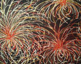 Kimono Silk Fireworks Kiku