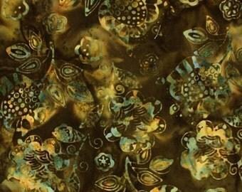 NEW - Olive Floral Batik - 9160