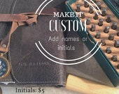 Custom Imprint name upgrade -addition to leather purchase