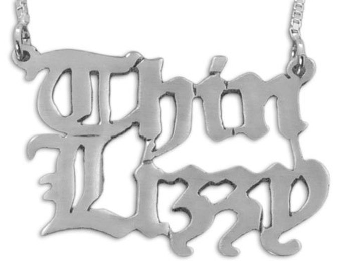 Personalized Double Name Necklace - Sterling Silver - choose from 4 styles