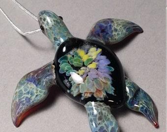 Rainbow Sea Turtle Pendant