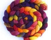Falkland Wool Roving - Hand Dyed Spinning or Felting Fiber Fiber, Hot to Touch, 4 ounces