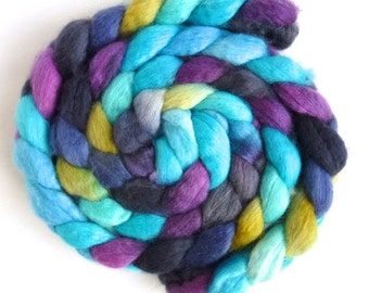 BFL Wool Roving - Hand Painted Spinning or Felting Fiber, Here Again