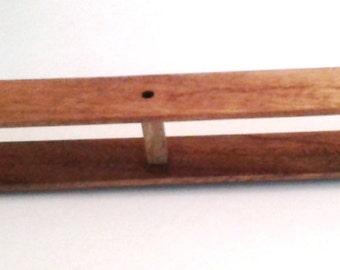 "24"" Rag Shuttle Handmade in USA with Exotic Hardwood Quality Woodworking Hokett ~ Perfect Gift!"