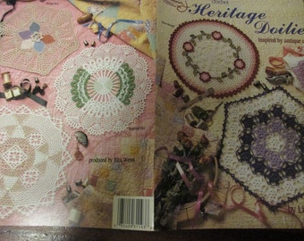 Thread Doily Crocheting Patterns Heritage Doilies American School of Needlework 1193 Crochet Pattern Leaflet Antique Quilt Inspired