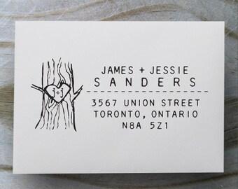 Self Inking Address Stamp, Address Stamp, Custom Address Stamp, Return Address Stamp, Personalized Gift, Wooden Rubber Stamp - 1007