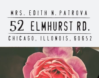Return Address Stamp - Self Inking Address Stamp - Calligraphy Stamp - Personalized Gift - Wedding Gift - Handwritten Stamp - Bridal - 1048