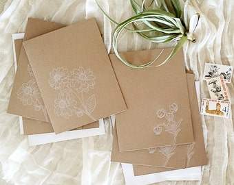 Modern Botanicals Letterpress Stationery Set