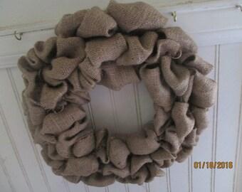 Plain  Burlap Wreath,  Wreath,  Basic Burlap Wreath,  Ready for YOU to Decorate, Unembellished