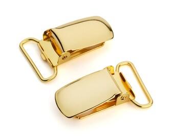 "100pcs - 3/4"" Suspender Clip - Gold - Free Shipping (SUSPENDER CLIP SPN-109)"