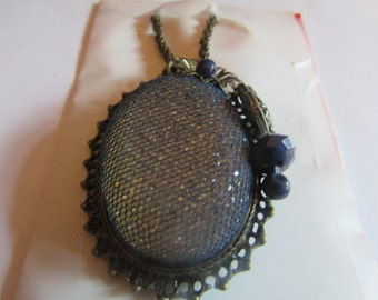 frosty blue pendent