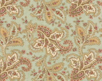 Quilting Cotton fabric   3 Sisters Larkspur   Mist Paisley 44101 14