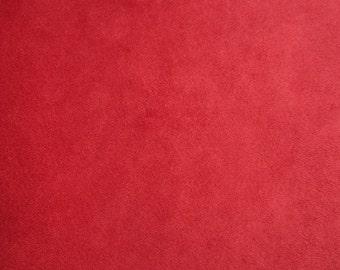 Solid Cuddle Red | Cuddle Minkee Minky fabric | Shannon fabrics
